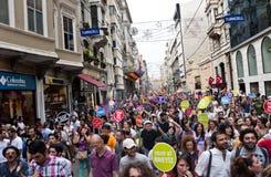 伊斯坦布尔LGBT自豪感2013年 免版税库存照片