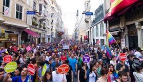 伊斯坦布尔LGBT骄傲游行 库存图片