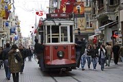 伊斯坦布尔taksim电车 免版税库存图片