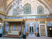 伊斯坦布尔Topkapi宫殿闺房 免版税库存图片