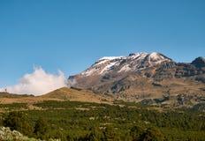 伊斯塔西瓦特尔火山火山Izta-Popo公园 免版税库存图片