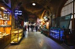 伊斯法罕,伊朗- 2016年10月06日:传统伊朗纪念品 免版税图库摄影