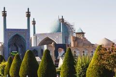 伊斯法罕,伊朗- 2016年10月06日:阿訇清真寺在南部 免版税库存照片