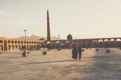 伊斯法罕,伊朗- 2016年10月06日:Lotfollah Mosque回教族长Naq的 库存图片