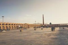 伊斯法罕,伊朗- 2016年10月06日:Lotfollah Mosque回教族长Naq的 免版税库存照片