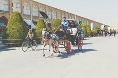 伊斯法罕,伊朗- 2016年10月06日:Lotfollah Mosque回教族长Naq的 免版税图库摄影