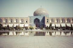 伊斯法罕,伊朗- 2016年10月06日:Lotfollah Mosque回教族长Naq的 库存照片
