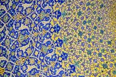 伊斯法罕,伊朗贾梅清真寺的几何样式  图库摄影