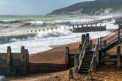 伊斯特本,东部SUSSEX/UK - 10月21日:风暴布里亚的尾声 库存照片