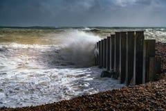 伊斯特本,东部SUSSEX/UK - 10月21日:风暴布里亚的尾声 免版税图库摄影