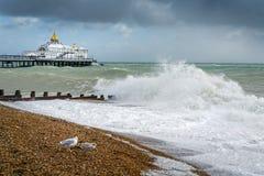 伊斯特本,东部SUSSEX/UK - 10月21日:风暴布里亚的尾声 库存图片
