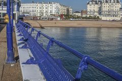 伊斯特本,英国-沿海岸区-码头 库存图片
