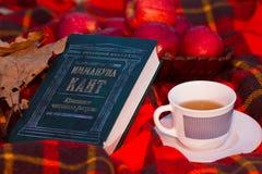 伊曼努尔・康德和茶 免版税库存照片