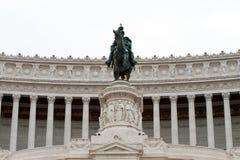伊曼纽尔对胜者的骑马者ii纪念碑罗马 库存图片