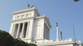 伊曼纽尔II纪念碑和阿尔塔雷della Patria在罗马,意大利 股票录像