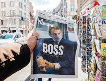 伊曼纽尔Macron上司 免版税图库摄影