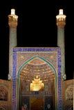 伊朗伊斯法罕清真寺晚上 免版税库存照片