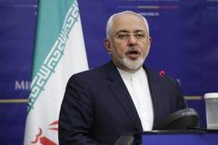 伊朗外交部长莫哈末Javad Zarif 免版税库存照片