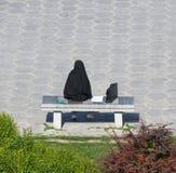 伊朗女商人 免版税库存照片