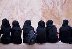 伊朗女小学生 免版税图库摄影