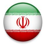 伊朗旗子按钮 免版税图库摄影