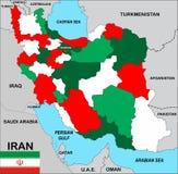 伊朗映射 免版税图库摄影