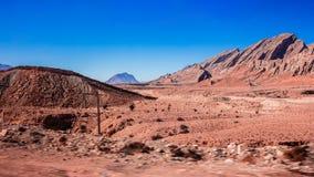 伊朗沙漠山看法  免版税库存照片
