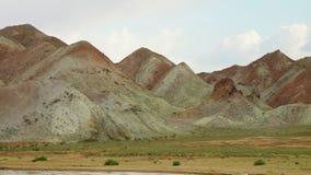 伊朗沙漠风景对比 影视素材