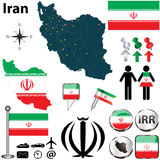 伊朗的地图 图库摄影
