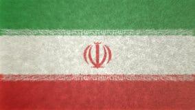 伊朗的旗子的原始的3D图象 皇族释放例证