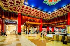 伊本・白图泰购物中心,迪拜,阿拉伯联合酋长国 库存照片