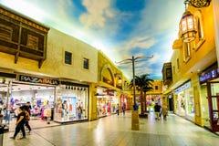 伊本・白图泰购物中心,迪拜,阿拉伯联合酋长国 免版税库存图片