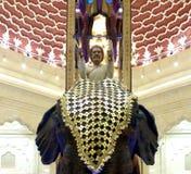伊本・白图泰购物中心,迪拜-阿拉伯联合酋长国印度法院大象 免版税库存图片