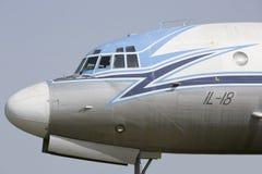 伊柳申飞机伊尔-18侧视图 免版税库存图片