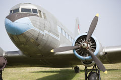 伊柳申飞机伊尔-18正面图 图库摄影