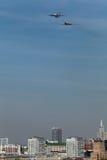伊柳申Il78和图波列夫图-160 库存照片