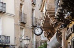 伊格莱斯,镇,撒丁岛,意大利,欧洲的老部分 免版税库存照片