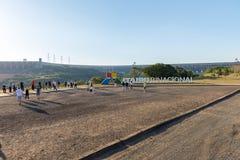伊泰普水电站水坝签署福兹做伊瓜苏 库存图片