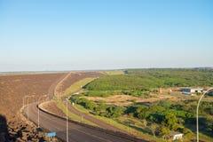 伊泰普水电站水坝观点在福兹做伊瓜苏 库存图片