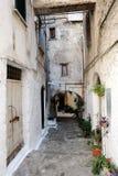 伊特里中世纪村庄在意大利 库存照片