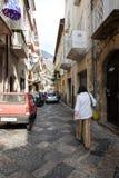 伊特里中世纪村庄在意大利 免版税库存图片