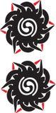 伊班族部族纹身花刺婆罗洲 库存照片