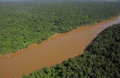 伊瓜苏河。 免版税库存照片