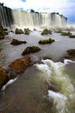伊瓜苏瀑布在阿根廷和巴西,南美 免版税图库摄影