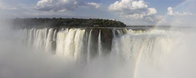 伊瓜苏瀑布阿根廷,iguacu巴西 免版税图库摄影