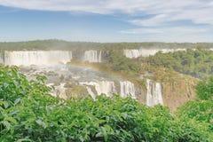 伊瓜苏瀑布鸟瞰图  库存图片