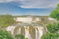 伊瓜苏瀑布鸟瞰图  库存照片