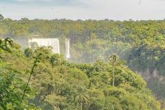 伊瓜苏瀑布鸟瞰图  免版税库存图片