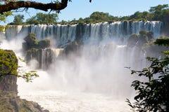 伊瓜苏瀑布,本质新的七奇迹之一。 阿根廷。 库存图片