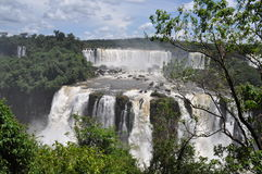伊瓜苏瀑布巴西人边 库存照片